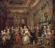William Hogarth House party oil painting reproduction