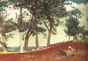 Winslow Homer Houses and trees oil painting reproduction