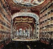 leigh hunt the interior of the teatro san carlo in naples where several of rossini s operas were fist performed oil painting reproduction