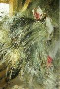 Anders Zorn pa holoftet oil painting reproduction