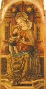 CRIVELLI, Carlo Virgin and Child Enthroned around oil painting