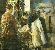 Christian Krohg i baljen oil painting reproduction
