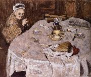 Edouard Vuillard Vial wife's breakfast oil painting reproduction