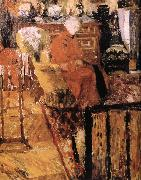 Edouard Vuillard Vial mother wearing a red jacket oil painting reproduction