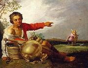 Abraham Bloemaert Shepherd Boy Pointing at Tobias and the Angel oil painting