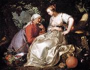 Abraham Bloemaert Vertumnus and Pomona oil painting