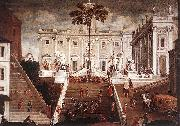 Agostino Tassi Competition on the Capitoline Hill oil painting