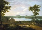 Alvan Fisher View of Springfield on the Connecticut River oil painting