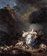 Anicet-Charles-Gabriel Lemonnier Niobe and her children killed by Apollo et Artemis oil painting