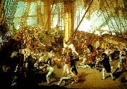 Denis Dighton the battle of trafalgar oil painting reproduction
