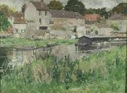 George Oberteuffer In Stevenson s Moret oil painting