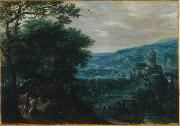 Gillis van Coninxloo Landscape with Venus and Adonis oil painting reproduction