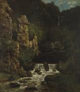 Gustave Courbet Landscape with Waterfall oil painting reproduction