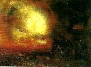J.M.W.Turner the hero of a hundred fights oil painting