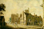 J.M.W.Turner the archbishop's palace, lambeth oil painting