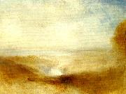 J.M.W.Turner landscape with a river and a bay in the distance oil painting reproduction