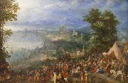 Jan Brueghel View of a Port city, oil painting