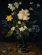 Jan Brueghel Still Life with Flowers in a Glass oil painting