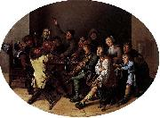 Jan Miense Molenaer The King Drinks oil painting reproduction