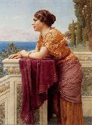 John William Godward The Belvedere oil painting reproduction