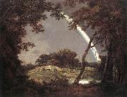 Joseph wright of derby Landscape with Rainbow oil painting reproduction