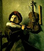 Judith leyster gosse blasande flojt oil painting reproduction