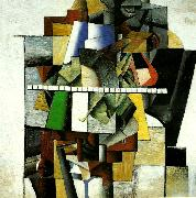 Kazimir Malevich portrait of composer matiushin oil painting