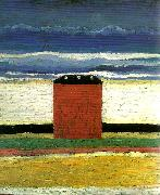 Kazimir Malevich red house oil painting