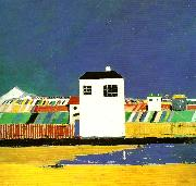 Kazimir Malevich landscape with a white house oil painting reproduction