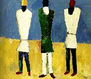 Kazimir Malevich peasants oil painting