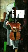 Kazimir Malevich cow and violin oil painting