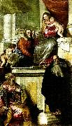 Paolo  Veronese holy family with john the baptist, ss. anthony abbot and catherine oil painting reproduction