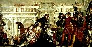 Paolo  Veronese the family of darus before alexander oil painting reproduction