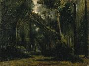 Paul Huet Landscape in the Forest at Compiegne oil painting reproduction