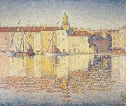 Paul Signac houses in the port saint tropez opus oil painting reproduction