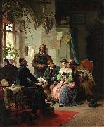 Peter Baumgartner The marriage instructions oil painting reproduction