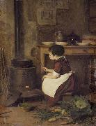Pierre Edouard Frere The Little Cook oil painting reproduction