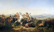 Raden Saleh Hunt oil painting reproduction