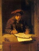Samuel van hoogstraten Self portrait oil painting reproduction