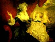 Sir Joshua Reynolds georgiana, duchess of devonshire with her daughter oil painting reproduction