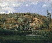 julian alden weir A French Homestead oil painting reproduction