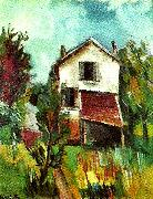 vlaminck hus med lider oil painting reproduction