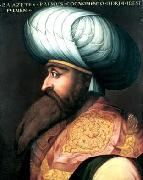 ALLORI  Cristofano Portrait of Bayezid I oil painting