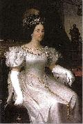 Adeodato Malatesta Portrait of Maria Beatrix Victoria of Savoia oil painting