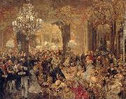Adolph von Menzel The Dinner at the Ball oil painting reproduction