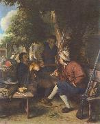 Adriaen van ostade Resting travellers. oil painting reproduction