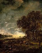 Aert van der Neer A Landscape with a River at Evening oil painting