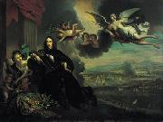 After Jan de Baen The apotheosis of Cornelis de Witt oil painting