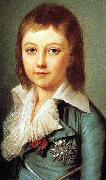 Alexander Kucharsky Portrait of Dauphin Louis Charles of France oil painting
