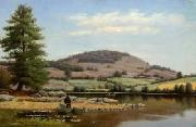 Alfred Ordway Fishing on Fairlee Pond oil painting